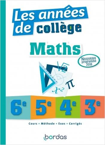 Les années de collège Maths