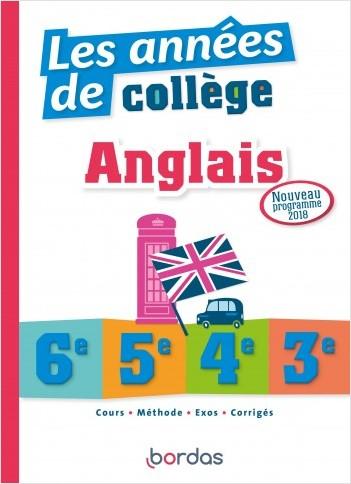 Les années de collège Anglais