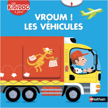 Vroum ! Les véhicules - Livre animé Kididoc - Dès 2 ans