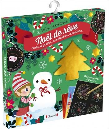 Un Noël de rêve – Pochette avec 2 cartes de 300 mosaïques, 2 cartes à métalliser, 2 cartes à gratter et 1 fil  – À partir de 6 ans