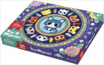 Trop mignons ! Mon puzzle pailleté – Puzzle de 100 pièces avec des paillettes – À partir de 6 ans
