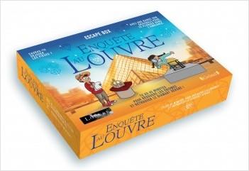 Escape box - Enquête au Louvre – Escape game enfant de 2 à 5 joueurs avec 40 cartes, 1 livret, 1 poster et 1 bande-son  – À partir de 8 ans
