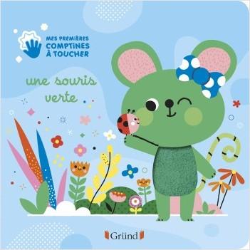 Une souris verte – Livre d'éveil avec 6 matières à toucher – À partir de 6 mois