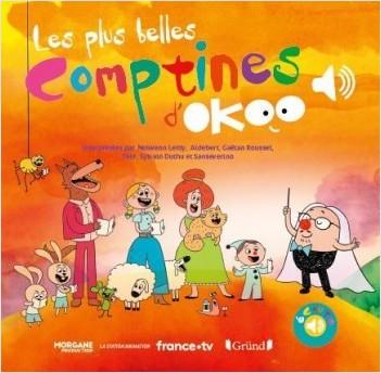 Les plus belles comptines d'Okoo – Livre sonore avec 6 puces avec les extraits originaux – Dès 1 an