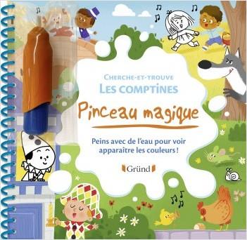 Pinceau magique : Cherche-et-trouve dans les comptines – Livre Coloriage magique à l'eau avec un pinceau – À partir de 3 ans