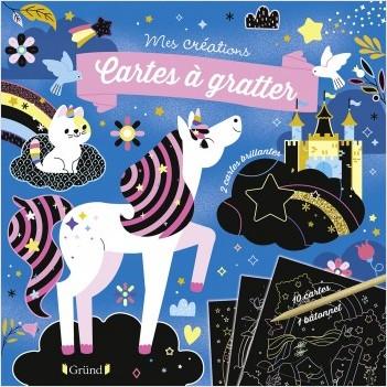 Cartes à gratter : Licornes et chevaux – Pochette avec dix cartes à gratter – À partir de 6 ans
