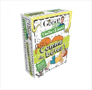 Dr Good ! Kids – 1 boîte 2 jeux : Comme des bêtes – Jeu de cartes avec Michel Cymes – À partir de 6 ans