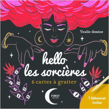 Hello les sorcières - 6 mini cartes à gratter + bâtonnet inclus