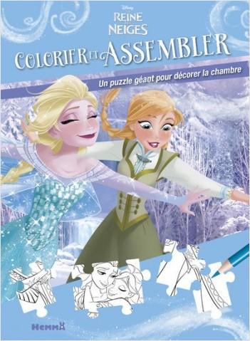 Disney La Reine des Neiges - Colorier et assembler