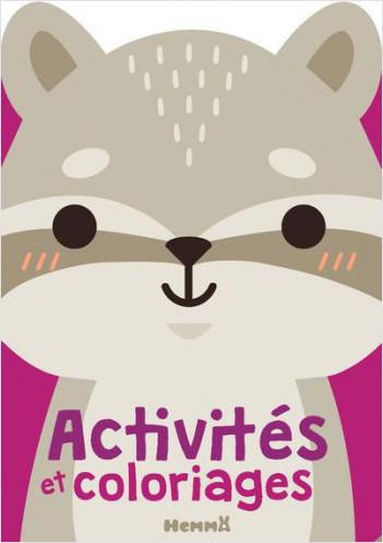 Activités et coloriages (raton laveur)