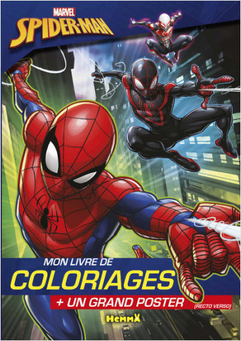 Marvel - Ultimate Spider-Man - Mon livre de coloriages + un grand poster