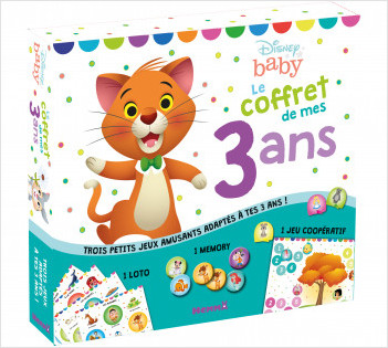 Disney Baby - Le coffret de mes 3 ans - Coffret jeux - Dès 3 ans