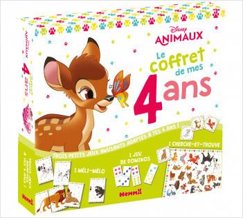 Disney Animaux - Le coffret de mes 4 ans - Coffret jeux - Dès 4 ans