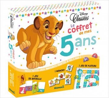 Disney Classics - Le coffret de mes 5 ans - Coffret jeux - Dès 5 ans