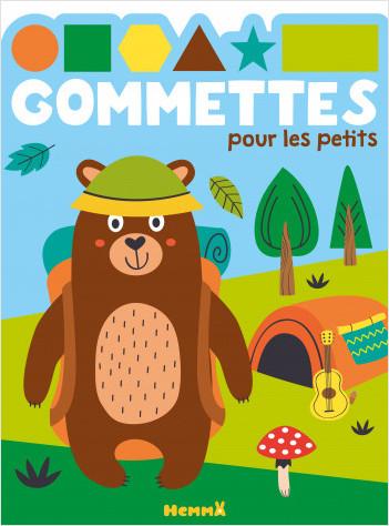 Gommettes pour les petits – Ours camping – Livret d'activités et de gommettes – dès 4 ans