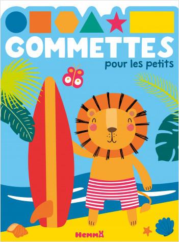 Gommettes pour les petits – Lion surf – Livret d'activités et de gommettes – dès 4 ans