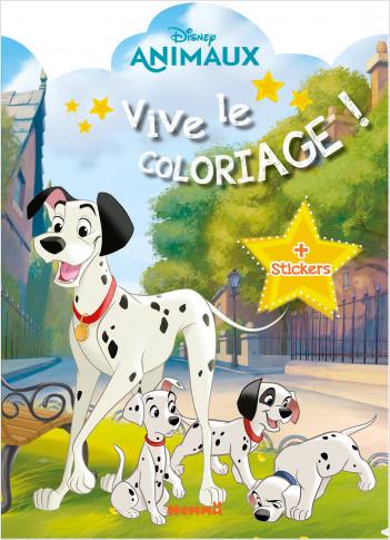 Disney Animaux – Vive le coloriage – Livre de coloriage avec stickers – Dès 4 ans
