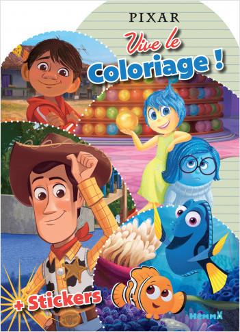 Disney Pixar – Vive le coloriage – Livre de coloriage avec stickers – Dès 4 ans