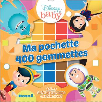 Disney Baby - Ma pochette 400 gommettes (Les personnages)