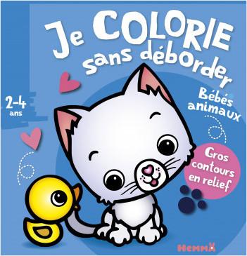 Je colorie sans déborder (2-4 ans) Bébés animaux (Chaton et canard)