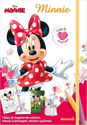 Disney Minnie – Coup de cœur créations – Kit mode avec coloriage et stickers – Dès 5 ans