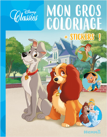 Disney - Mon gros coloriage + stickers ! (La Belle et le Clochard)