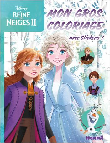 Disney La Reine des Neiges 2 - Mon gros coloriage + stickers ! (Fond forêt)