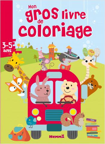 Mon gros livre de coloriage (Bus animaux)