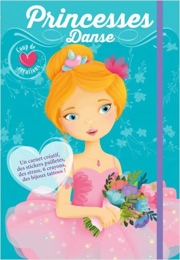 Coup de coeur créations - Princesses, Danse - Kit avec stickers et crayons pour habiller et colorier les modèles - dès 4 ans