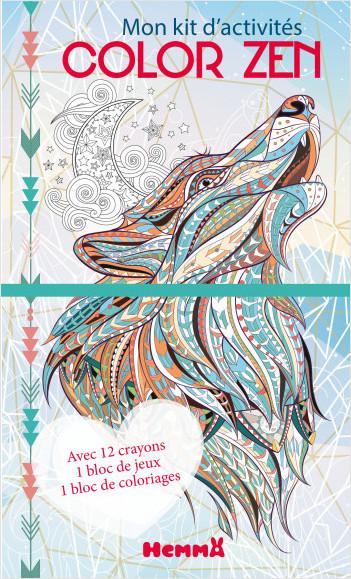Color zen - Mon kit d'activités (Loup hiver)