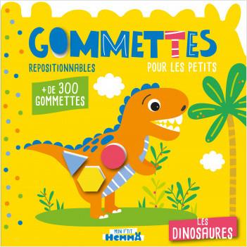 Gommettes pour les petits - Les dinosaures - Livre de gommettes repositionnables - dès 3 ans