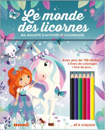 Ma mallette d'activités et coloriages - Le monde des licornes