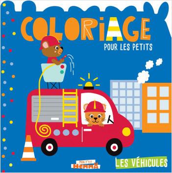 Mon P'tit Hemma - Coloriage pour les petits - Les véhicules (Camion de pompier)
