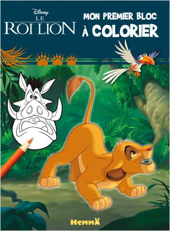 Disney Le Roi Lion - Mon premier bloc à colorier (Simba)