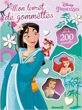 Disney Princesses - Mon livret de gommettes (Mulan, Ariel, Belle)