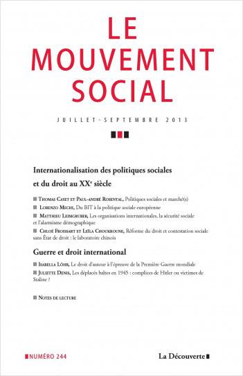 Internationalisation des politiques sociales et du droit au XXe siècle