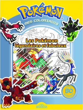 Mes coloriages Pokémon - Les Pokémon légendaires et fabuleux